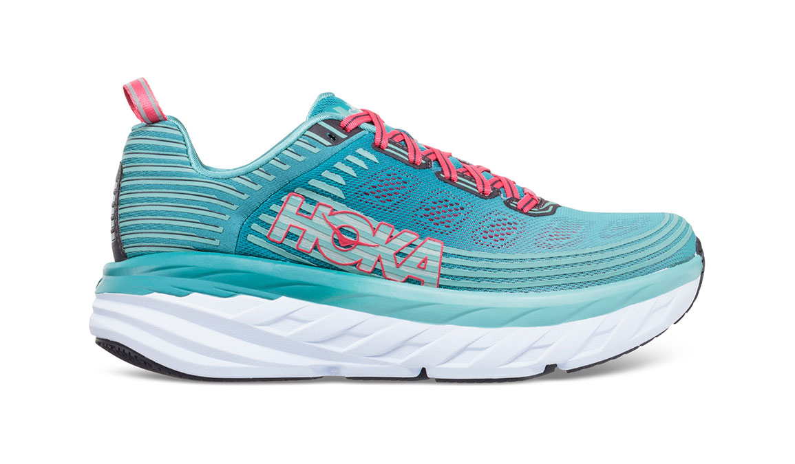 Women's Hoka One One Bondi 6 Running Shoe - Color: Canton/Green-Blue Slate (Regular Width) - Size: 10.5, Canton/Green-Blue Slate, large, image 1
