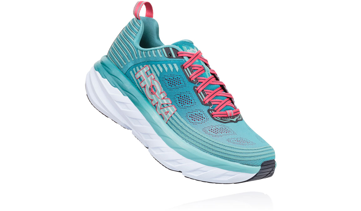 Women's Hoka One One Bondi 6 Running Shoe - Color: Canton/Green-Blue Slate (Regular Width) - Size: 10.5, Canton/Green-Blue Slate, large, image 2