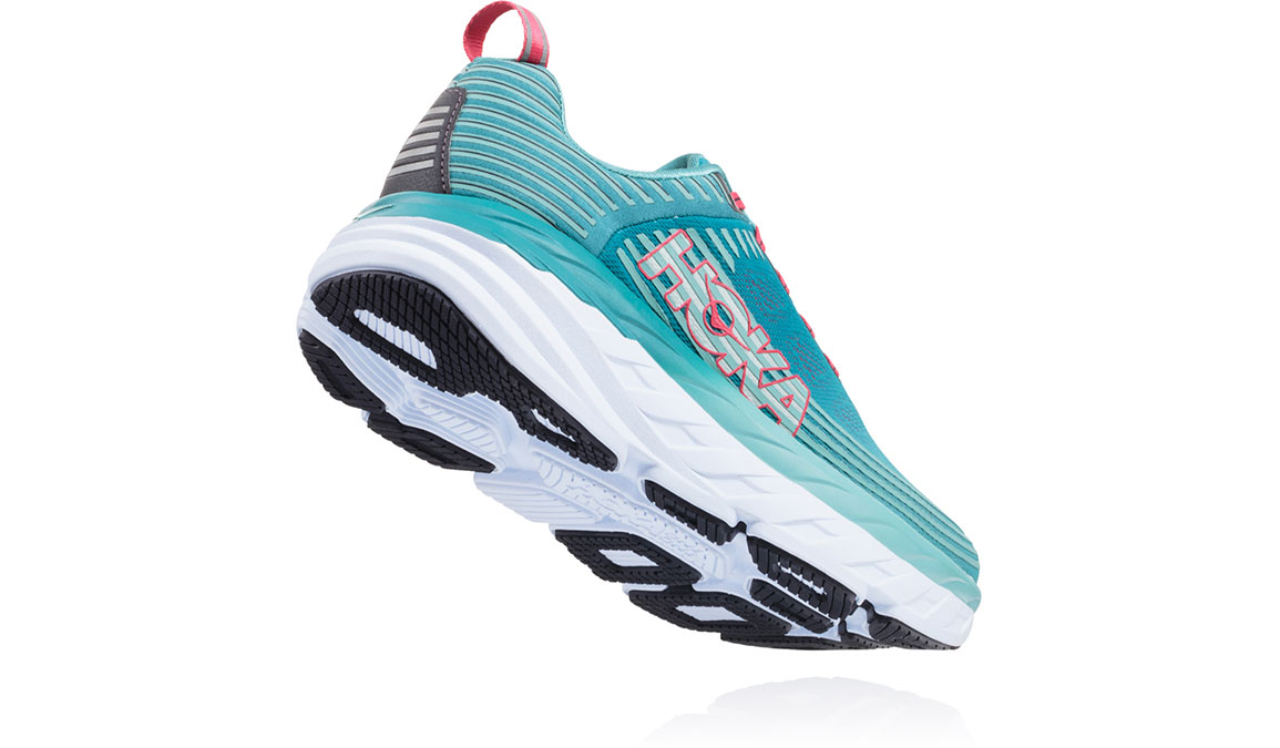 Women's Hoka One One Bondi 6 Running Shoe - Color: Canton/Green-Blue Slate (Regular Width) - Size: 10.5, Canton/Green-Blue Slate, large, image 3