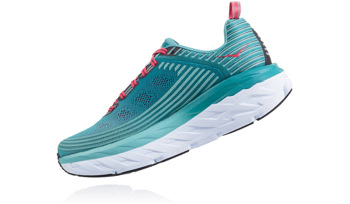 Women's Hoka One One Bondi 6 Running Shoe - Color: Canton/Green-Blue Slate (Regular Width) - Size: 10.5, Canton/Green-Blue Slate, large, image 4
