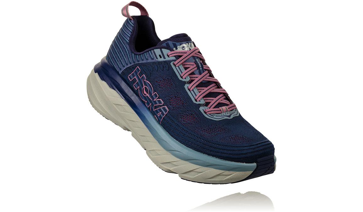 Women's Hoka One One Bondi 6 Running Shoe - Color: Marlin/Blue Ribbon (Regular Width) - Size: 6.5, Marlin/Blue Ribbon, large, image 2