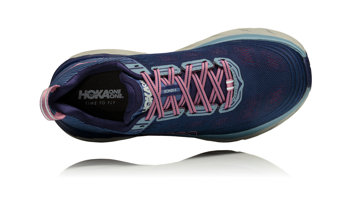 Women's Hoka One One Bondi 6 Running Shoe - Color: Marlin/Blue Ribbon (Regular Width) - Size: 6.5, Marlin/Blue Ribbon, large, image 5