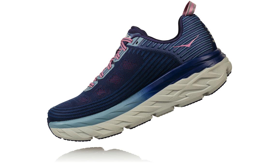 Women's Hoka One One Bondi 6 Running Shoe - Color: Marlin/Blue Ribbon (Regular Width) - Size: 6.5, Marlin/Blue Ribbon, large, image 4