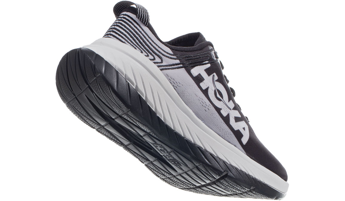Women's Hoka One One Carbon X Running Shoe - Color: Black Cloud/Nimbus Cloud (Regular Width) - Size: 5, Black Cloud/Nimbus Cloud, large, image 3