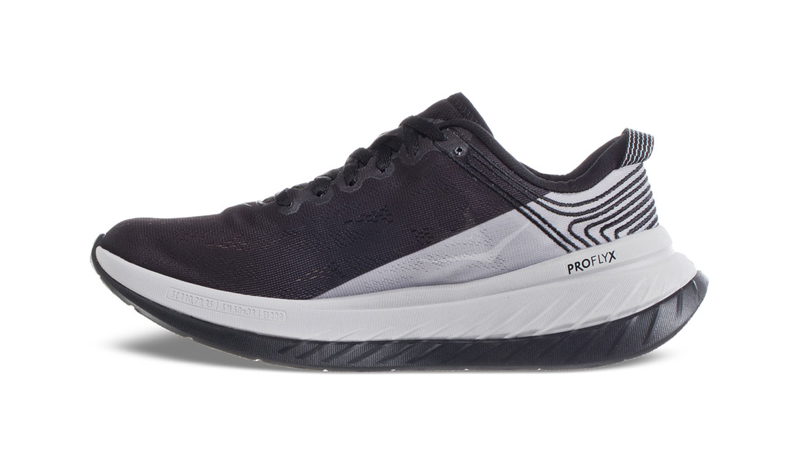 Women's Hoka One One Carbon X Running Shoe - Color: Black Cloud/Nimbus Cloud (Regular Width) - Size: 5, Black Cloud/Nimbus Cloud, large, image 4