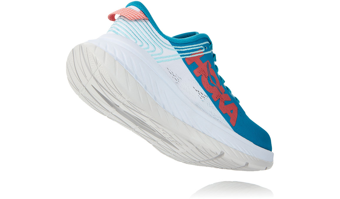 Women's Hoka One One Carbon X Running Shoe - Color: Caribbean Sea/White (Regular Width) - Size: 5, Caribbean Sea/White, large, image 3