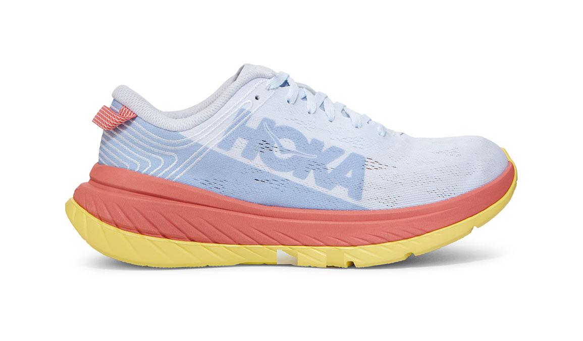 Women's Hoka One One Carbon X Running Shoe - Color: Nimbus Cloud/Lantana (Regular Width) - Size: 5, Nimbus Cloud/Lantana, large, image 1