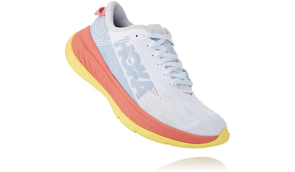 Women's Hoka One One Carbon X Running Shoe - Color: Nimbus Cloud/Lantana (Regular Width) - Size: 5, Nimbus Cloud/Lantana, large, image 3
