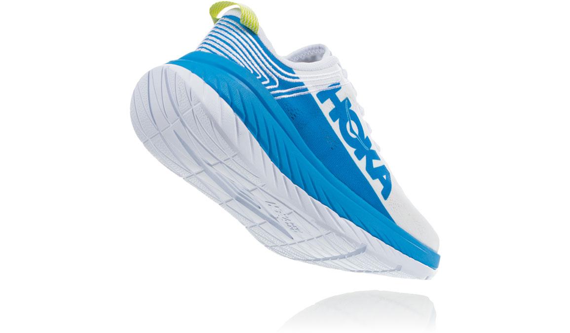 Women's Hoka One One Carbon X Running Shoe - Color: White/Dresden Blue (Regular Width) - Size: 5, White/Dresden Blue, large, image 3