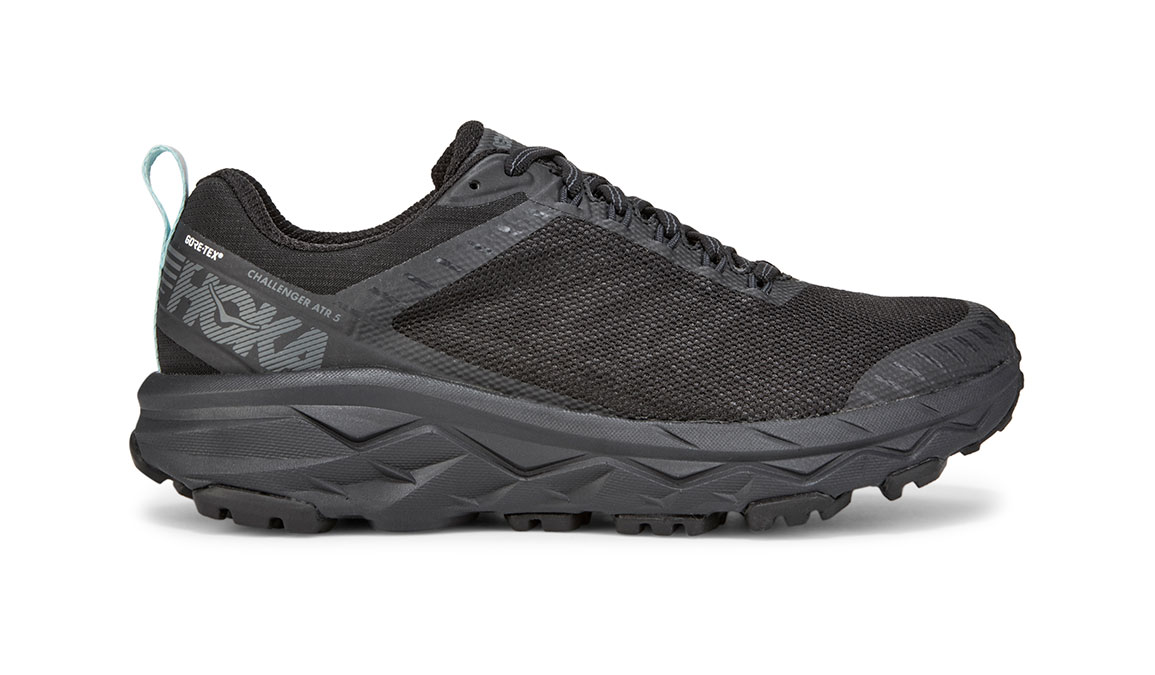 Women's Hoka One One Challenger ATR 5 Gore-Tex Trail Running Shoe - Color: Black/Antigua Sand (Regular Width) - Size: 5.5, Black/Antigua Sand, large, image 1