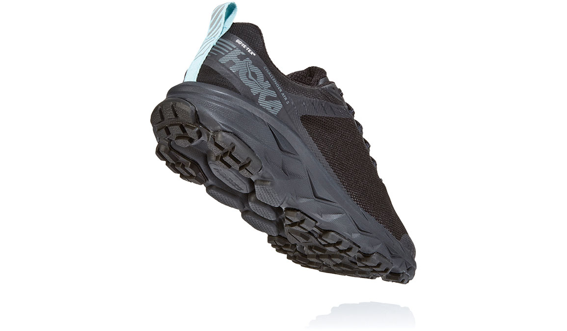 Women's Hoka One One Challenger ATR 5 Gore-Tex Trail Running Shoe - Color: Black/Antigua Sand (Regular Width) - Size: 5.5, Black/Antigua Sand, large, image 4