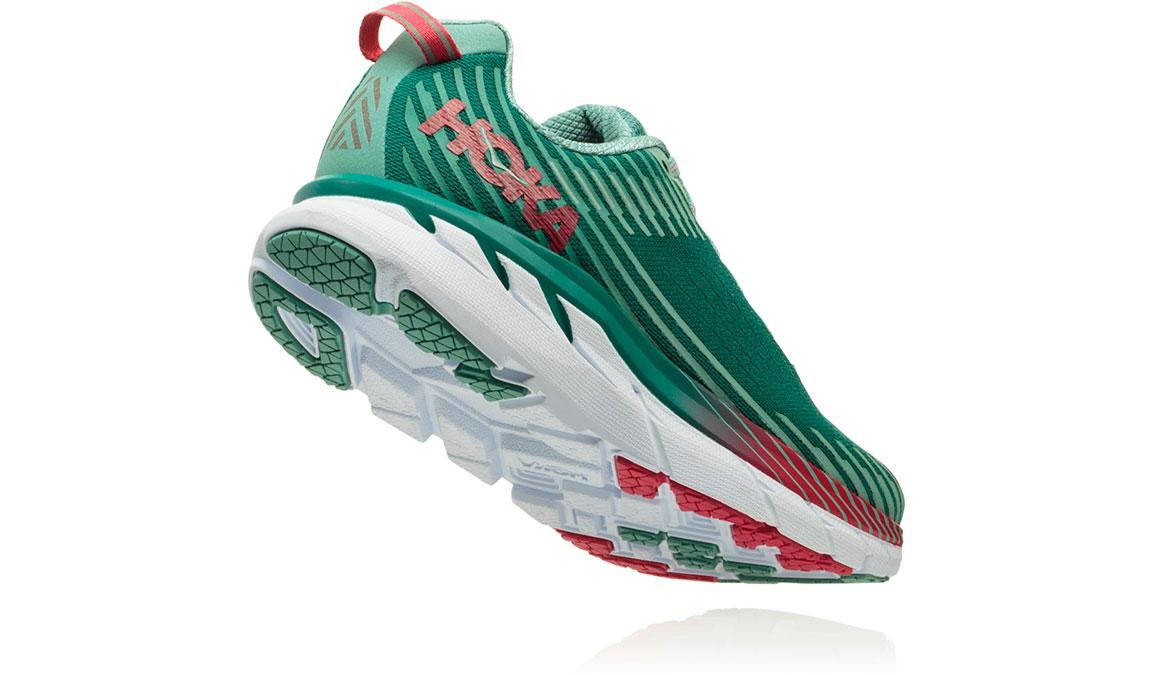 Women's Hoka One One Clifton 5 Running Shoe - Color: Green Blue Slate (Regular Width) - Size: 9, Green Blue Slate, large, image 4