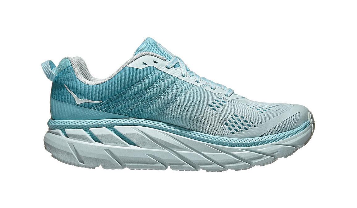 Women's Hoka One One Clifton 6 Running Shoe - Color: Antigua Sand/Wan Blue (Regular Width) - Size: 6.5, Antigua Sand/Wan Blue, large, image 1