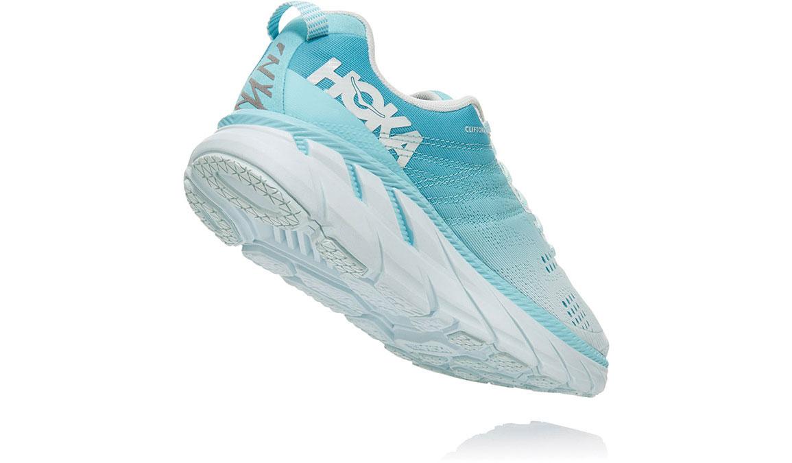 Women's Hoka One One Clifton 6 Running Shoe - Color: Antigua Sand/Wan Blue (Regular Width) - Size: 6.5, Antigua Sand/Wan Blue, large, image 4