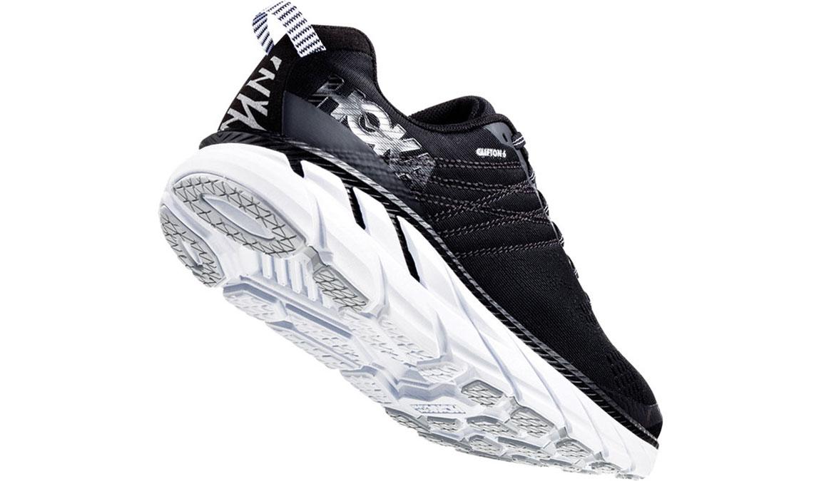 Women's Hoka One One Clifton 6 Running Shoe - Color: Black/White (Regular Width) - Size: 5, Black/White, large, image 3