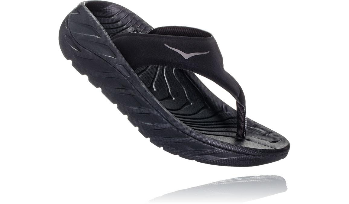 Women's Hoka One One Ora Recovery Flip 2 - Color: Black/Dark Gull Grey (Regular Width) - Size: 5, Black/Dark Gull Grey, large, image 2