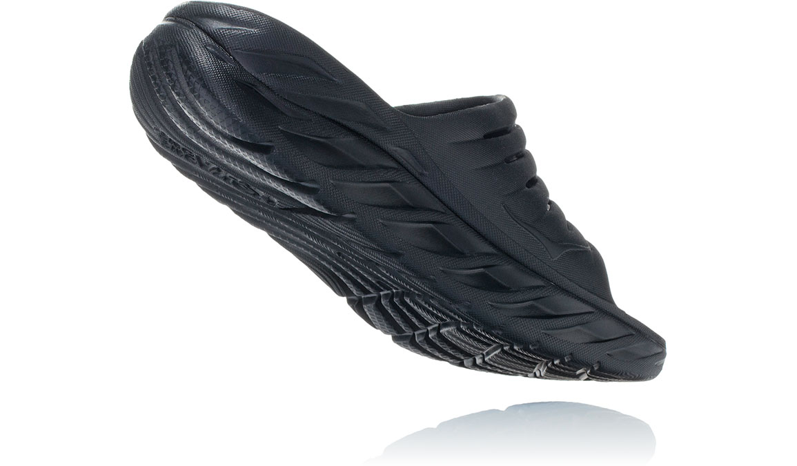 Women's Hoka One One Ora Recovery Slide 2 - Color: Black/Black (Regular Width) - Size: 5, Black/Black, large, image 3