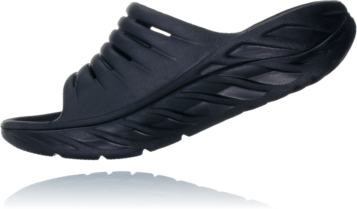Women's Hoka One One Ora Recovery Slide 2 - Color: Black/Black (Regular Width) - Size: 5, Black, large, image 4