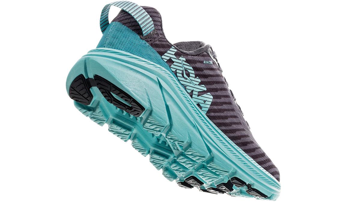 Women's Hoka One One Rincon Running Shoe - Color: Charcoal Grey/Aqua Sky (Regular Width) - Size: 6.5, Charcoal Grey/Aqua Sky, large, image 4