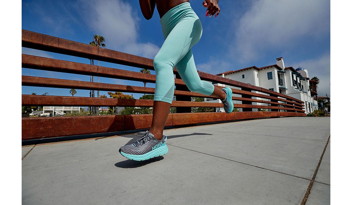 Women's Hoka One One Rincon Running Shoe - Color: Charcoal Grey/Aqua Sky (Regular Width) - Size: 6.5, Charcoal Grey/Aqua Sky, large, image 7
