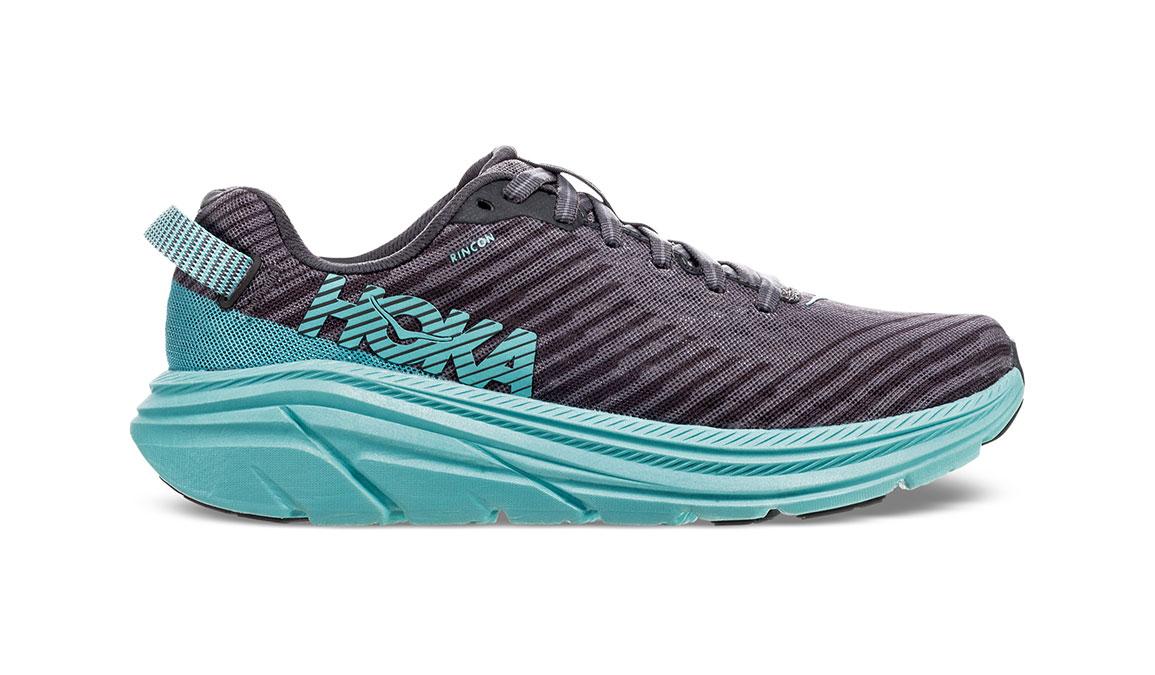 Women's Hoka One One Rincon Running Shoe - Color: Charcoal Grey/Aqua Sky (Regular Width) - Size: 6.5, Charcoal Grey/Aqua Sky, large, image 1
