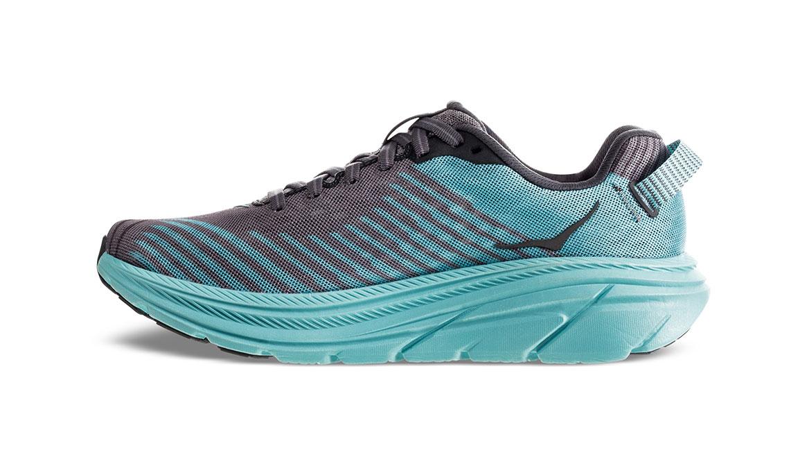 Women's Hoka One One Rincon Running Shoe - Color: Charcoal Grey/Aqua Sky (Regular Width) - Size: 6.5, Charcoal Grey/Aqua Sky, large, image 2