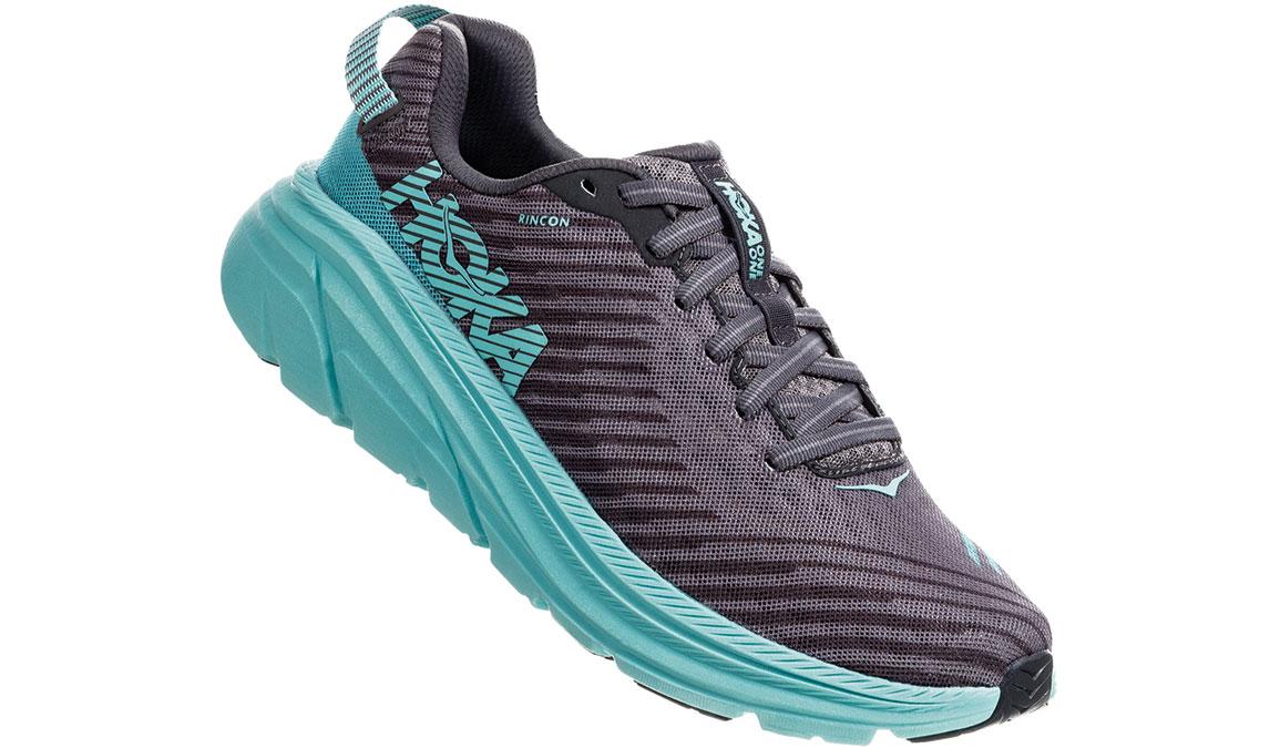 Women's Hoka One One Rincon Running Shoe - Color: Charcoal Grey/Aqua Sky (Regular Width) - Size: 6.5, Charcoal Grey/Aqua Sky, large, image 3