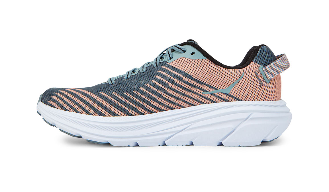 Women's Hoka One One Rincon Running Shoe - Color: Lead/Pink Sand (Regular Width) - Size: 6.5, Lead/Pink Sand, large, image 2