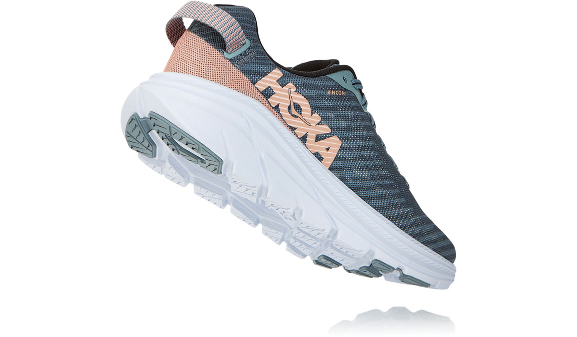 Women's Hoka One One Rincon Running Shoe - Color: Lead/Pink Sand (Regular Width) - Size: 6.5, Lead/Pink Sand, large, image 4