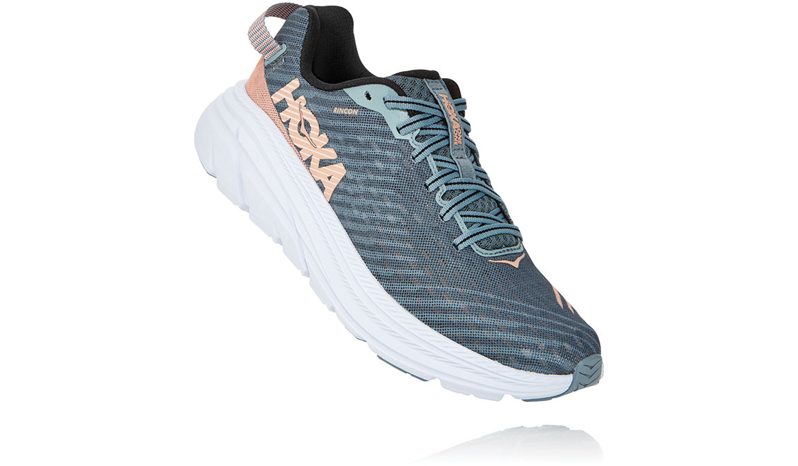 Women's Hoka One One Rincon Running Shoe - Color: Lead/Pink Sand (Regular Width) - Size: 6.5, Lead/Pink Sand, large, image 3