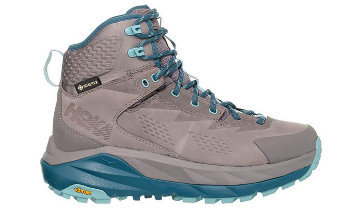 Women's Hoka One One Sky Kaha Gtx Trail Running Shoe - Color: Frost Gray/Aqua Haze (Regular Width) - Size: 7.5, Frost Gray/Aqua Haze, large, image 1