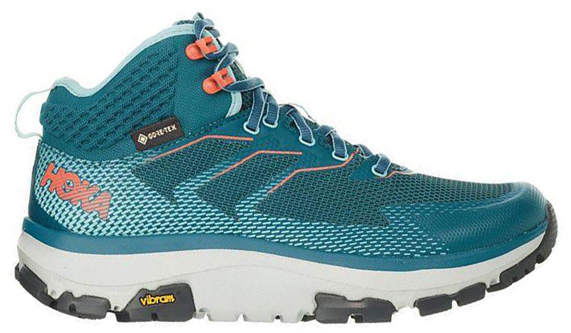 Women's Hoka One One Sky Toa Gore-Tex Trail Running Shoe - Color: Dragonfly/Aqua Haze (Regular Width) - Size: 7.5, Dragonfly/Aqua Haze, large, image 1