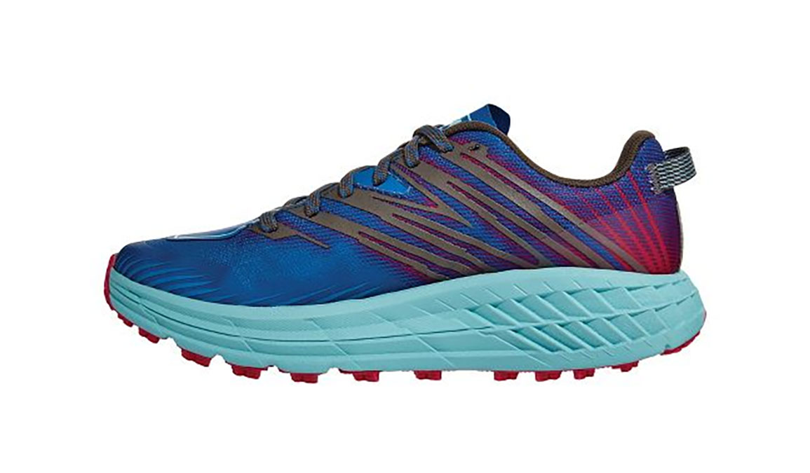 Women's Hoka One One Speedgoat 4 Trail Running Shoe - Color: Imperial Blue/Pink Peacock (Regular Width) - Size: 5, Imperial Blue/Pink Peacock, large, image 2
