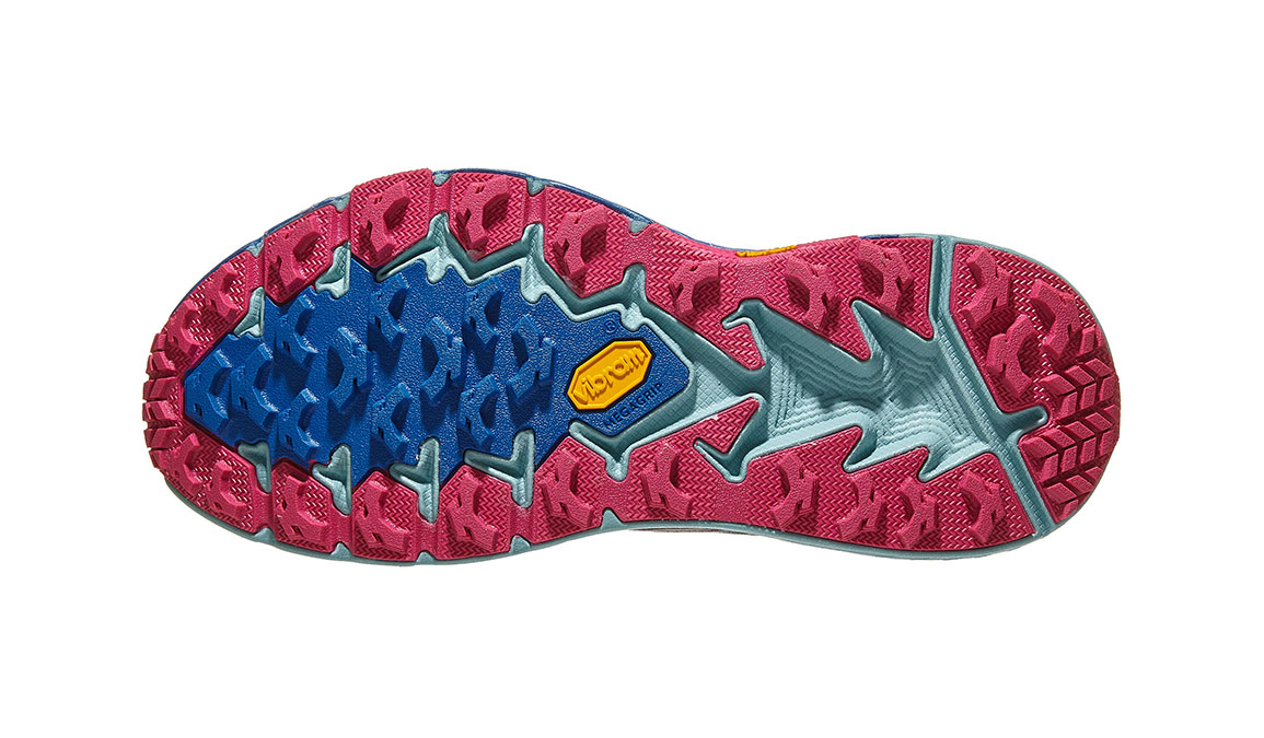 Women's Hoka One One Speedgoat 4 Trail Running Shoe - Color: Imperial Blue/Pink Peacock (Regular Width) - Size: 5, Imperial Blue/Pink Peacock, large, image 4