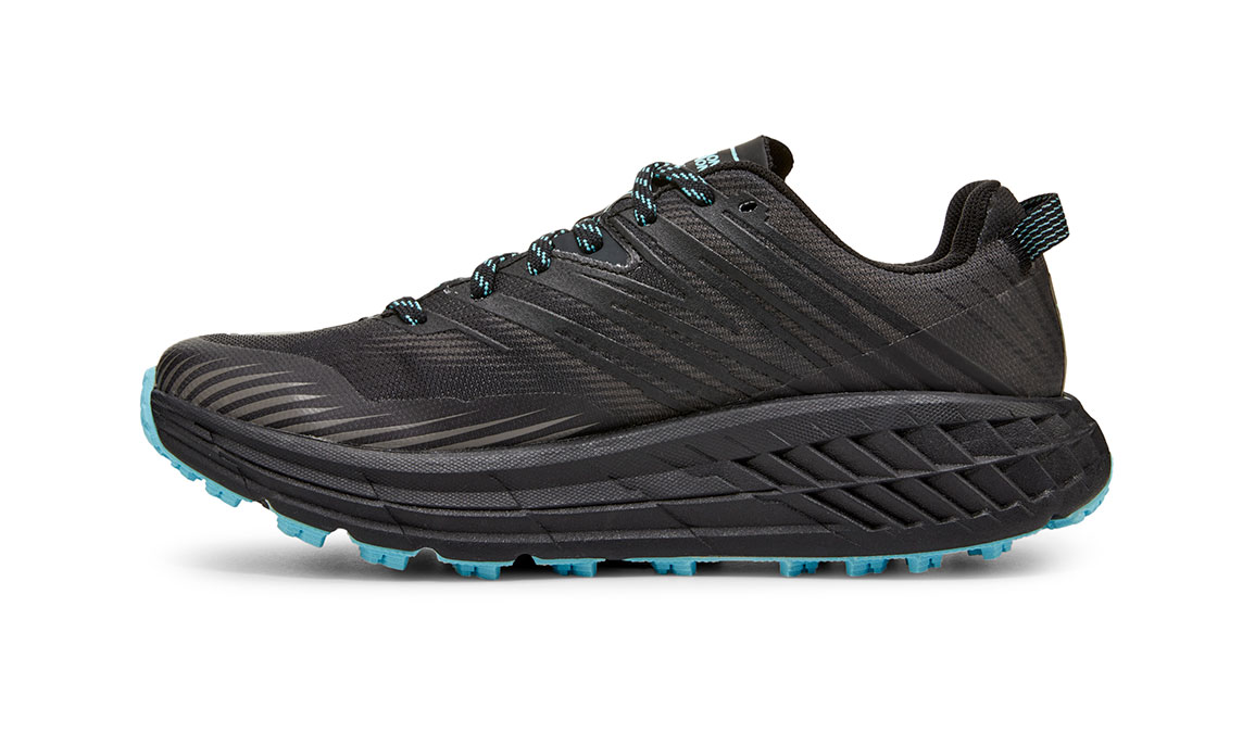 Women's Hoka One One Speedgoat 4 Gore-Tex Trail Running Shoe - Color: Anthracite/Dark Gull Grey (Regular Width) - Size: 5, Anthracite/Dark Gull Grey, large, image 2