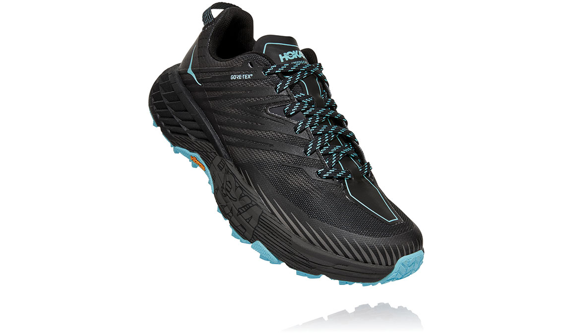 Women's Hoka One One Speedgoat 4 Gore-Tex Trail Running Shoe - Color: Anthracite/Dark Gull Grey (Regular Width) - Size: 5, Anthracite/Dark Gull Grey, large, image 3