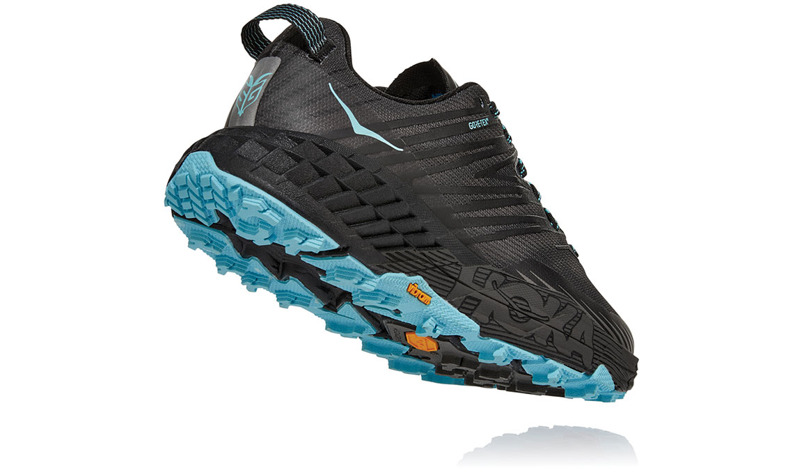 Women's Hoka One One Speedgoat 4 Gore-Tex Trail Running Shoe - Color: Anthracite/Dark Gull Grey (Regular Width) - Size: 5, Anthracite/Dark Gull Grey, large, image 4