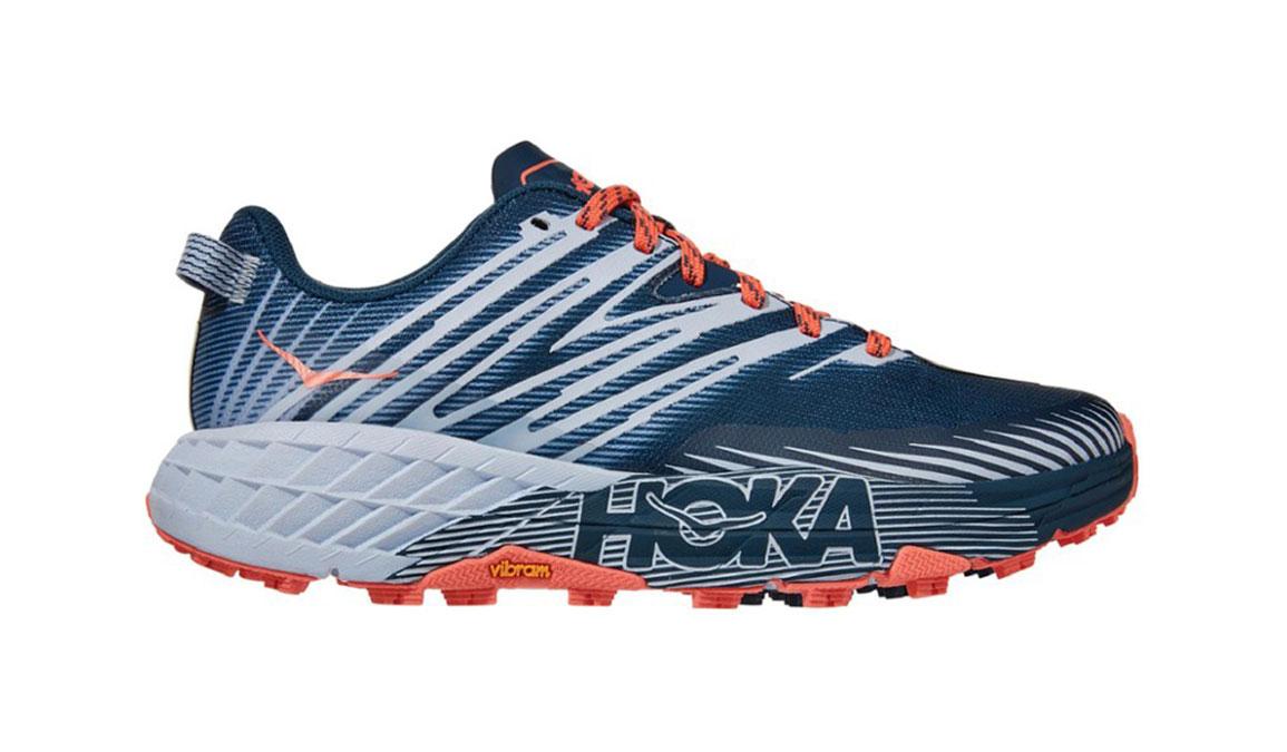 Women's Hoka One One Speedgoat 4 Trail Running Shoe - Color: Majolica Blue/Heather (Regular Width) - Size: 5, Majolica Blue/Heather, large, image 1