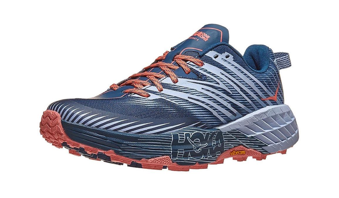 Women's Hoka One One Speedgoat 4 Trail Running Shoe - Color: Majolica Blue/Heather (Regular Width) - Size: 5, Majolica Blue/Heather, large, image 3