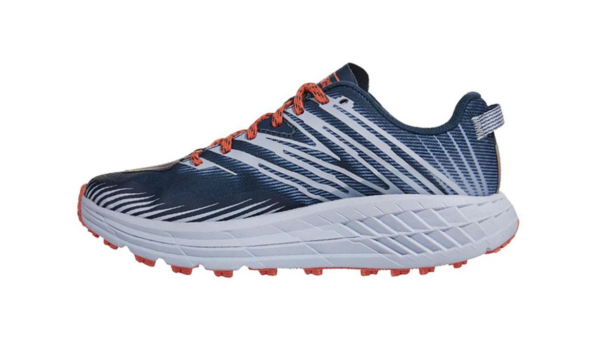 Women's Hoka One One Speedgoat 4 Trail Running Shoe - Color: Majolica Blue/Heather (Regular Width) - Size: 5, Majolica Blue/Heather, large, image 2