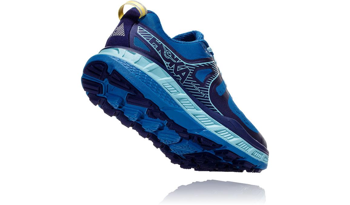Women's Hoka One One Stinson ATR 5 Trail Running Shoe - Color: Seaport/Aqua Haze (Regular Width) - Size: 5, Seaport/Aqua Haze, large, image 3