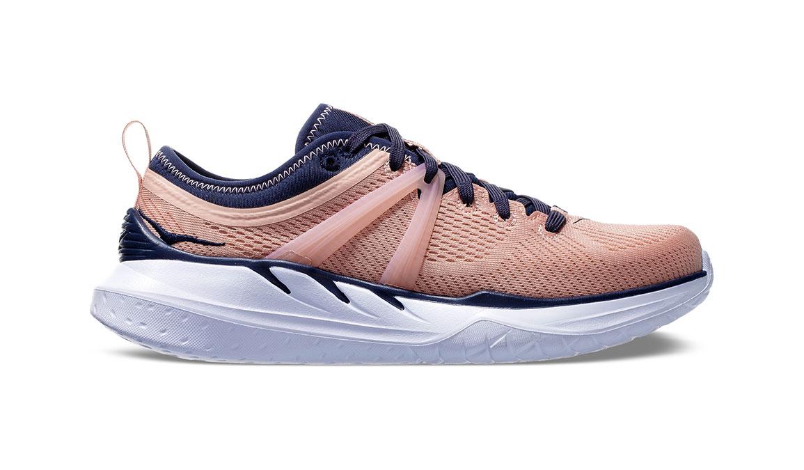 Women's Hoka One One Tivra Training Shoes - Color: Dusty Pink/Mood Indigo (Regular Width) - Size: 5, Dusty Pink/Mood Indigo, large, image 1