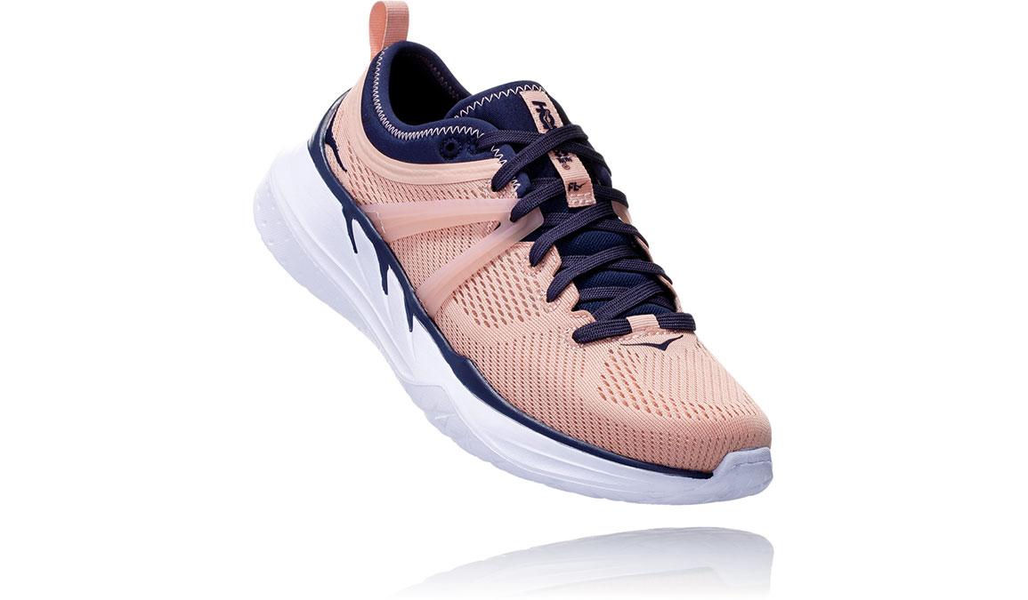 Women's Hoka One One Tivra Training Shoes - Color: Dusty Pink/Mood Indigo (Regular Width) - Size: 5, Dusty Pink/Mood Indigo, large, image 3