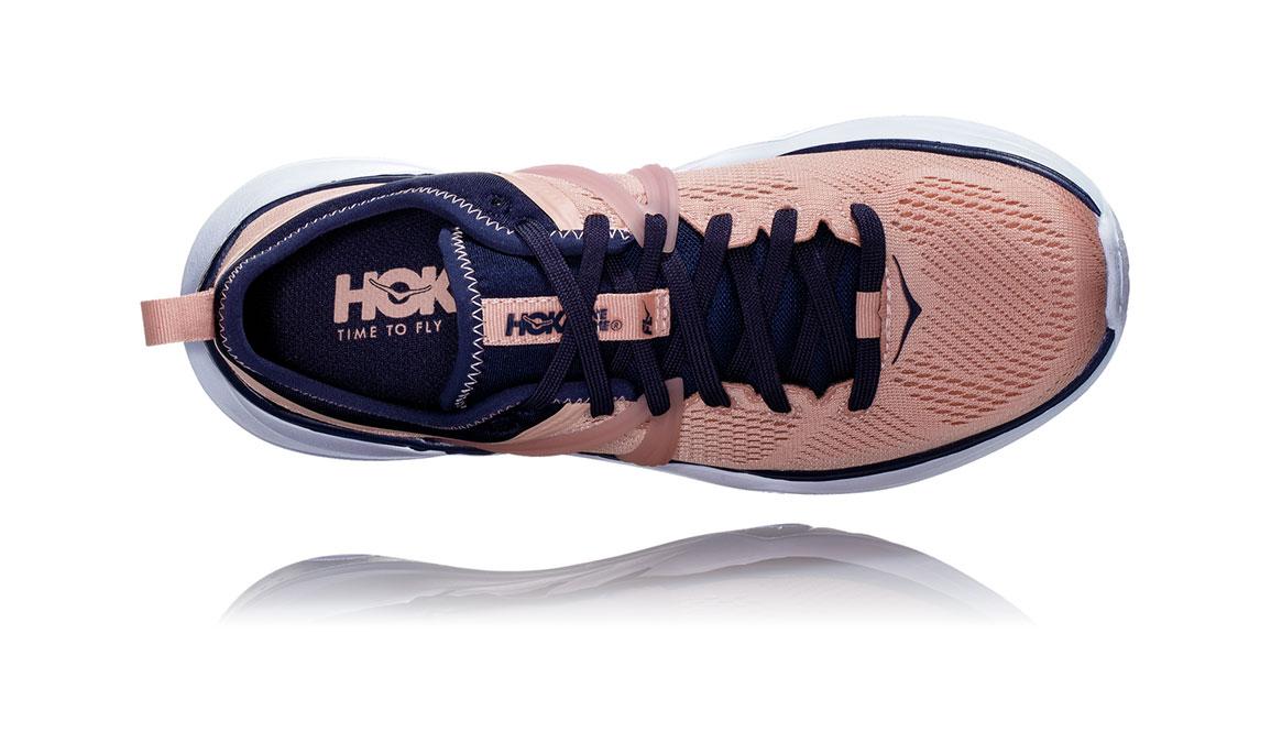 Women's Hoka One One Tivra Training Shoes - Color: Dusty Pink/Mood Indigo (Regular Width) - Size: 5, Dusty Pink/Mood Indigo, large, image 5