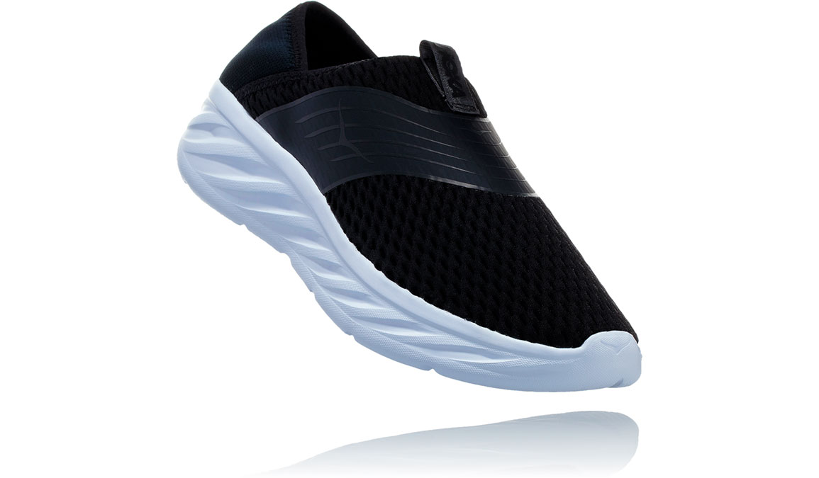 Women's Hoka One One Ora Recovery Shoe - Color: Black Phantom (Regular Width) - Size: 8, Black Phantom, large, image 2