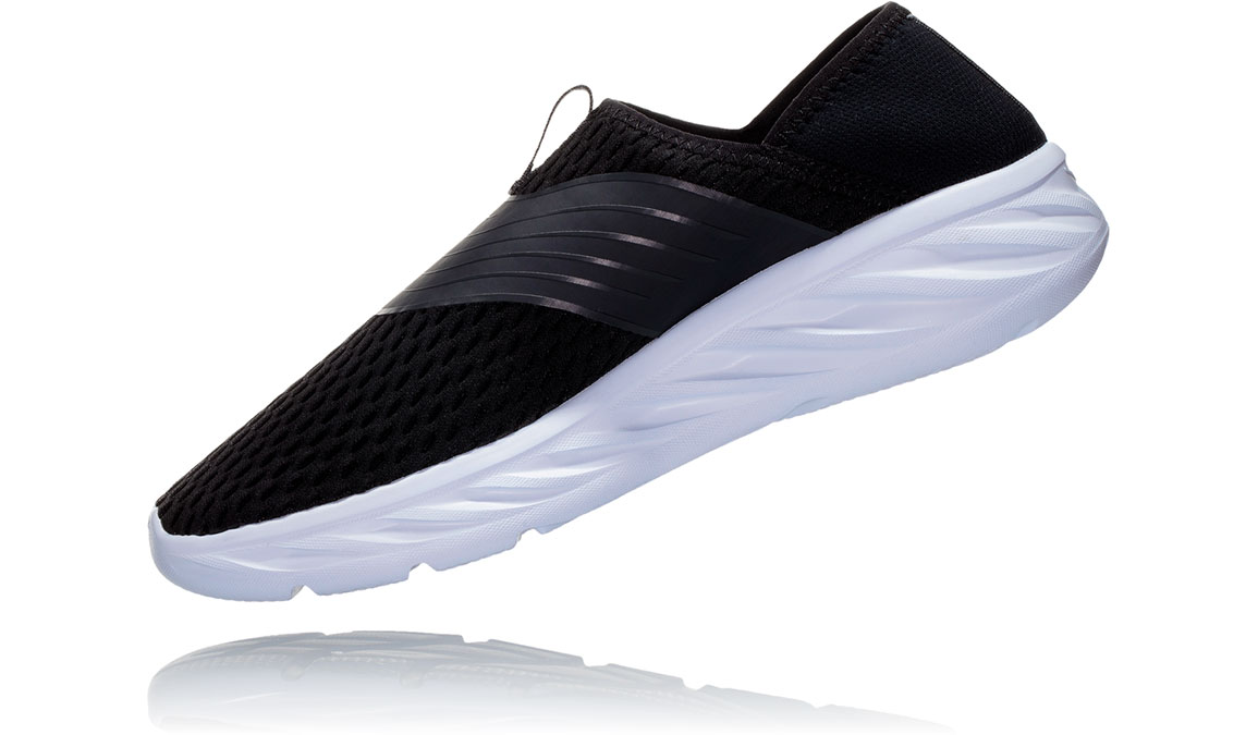 Women's Hoka One One Ora Recovery Shoe - Color: Black Phantom (Regular Width) - Size: 8, Black Phantom, large, image 4