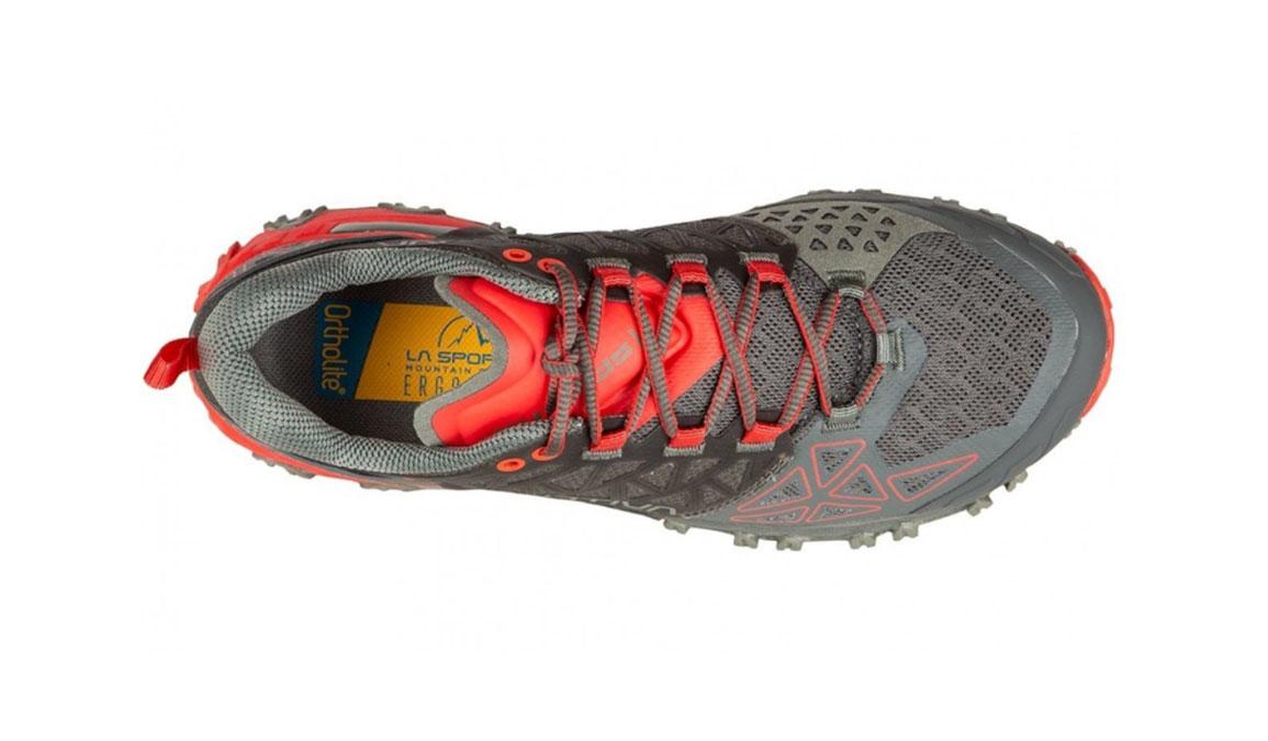 Women's La Sportiva Bushido II Trail Running Shoe - Color: Carbon/Hibiscus (Regular Width) - Size: 8, Grey/Red, large, image 3