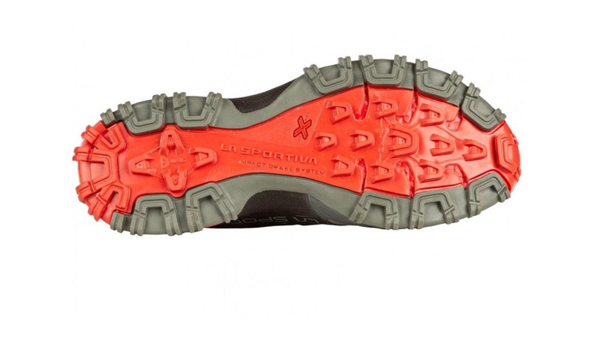Women's La Sportiva Bushido II Trail Running Shoe - Color: Carbon/Hibiscus (Regular Width) - Size: 8, Grey/Red, large, image 4