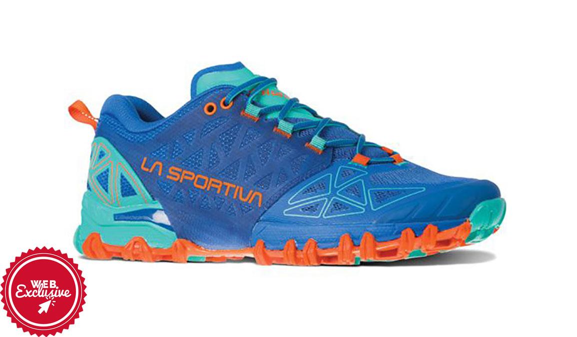 Women's La Sportiva Bushido II Trail Running Shoe - Color: Marine Blue/Aqua (Regular Width) - Size: 6, Marine, large, image 2