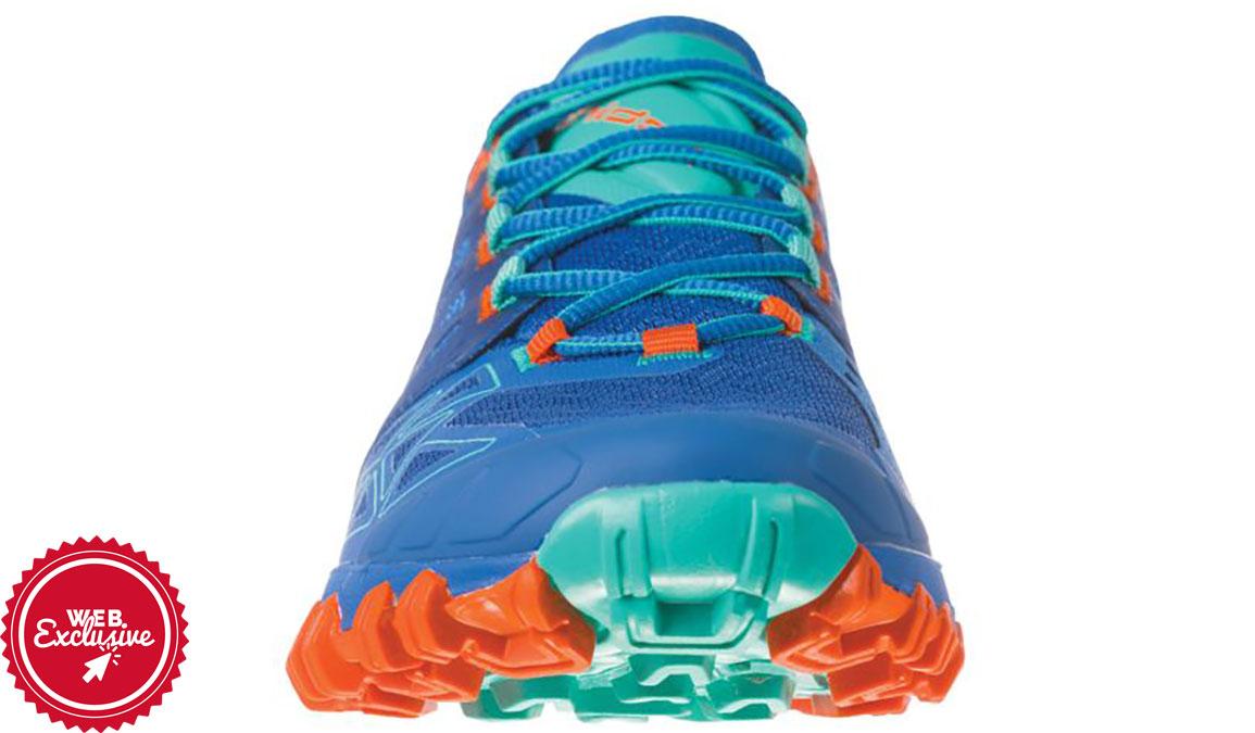 Women's La Sportiva Bushido II Trail Running Shoe - Color: Marine Blue/Aqua (Regular Width) - Size: 6, Marine, large, image 3